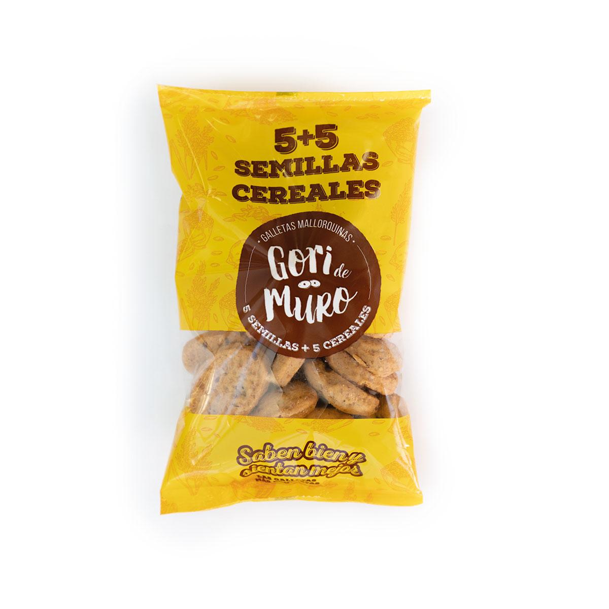 Galletas de aceite mallorquinas 5 semillas + 5 cereales
